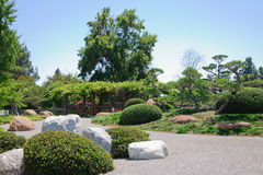 Beautiful view of Japanese Garden Stock Photo
