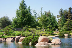 Beautiful view of Japanese Garden Stock Images