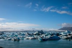 Beautiful view of Jokulsarlon lagoon Royalty Free Stock Photography