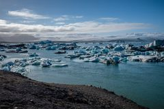 Beautiful view of Jokulsarlon lagoon Stock Photography