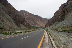 Beautiful View Of Karakoram Highway stock photos