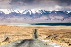 Nice view of Pamir in Tajikistan. Beautiful view of  Karakul lake in Pamir in Tajikistan Stock Image