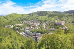 Beautiful view of Karlovy Vary, Czech Republic. On a sunny day stock photos