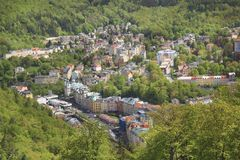 Beautiful view of Karlovy Vary, Czech Republic. On a sunny day royalty free stock image