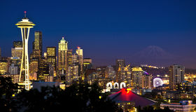 A beautiful view from kerry park Stock Photography