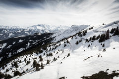 Beautiful view from Kitzsteinhorn ski resort Royalty Free Stock Images