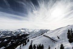 Beautiful view from Kitzsteinhorn ski resort Royalty Free Stock Photo