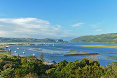 Beautiful view of Knysna town and lagoon Stock Photo