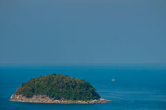 Beautiful view of Koh Pu (Crab Island). A small island peaceful. Island nearby Kata beach, Phuket, Thailand Stock Photography