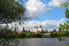Beautiful view of kremlin in Izmailovo, Moscow, Russia Royalty Free Stock Images