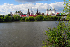Beautiful view of kremlin in Izmailovo, Moscow, Russia Stock Photos
