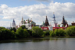 Beautiful view of kremlin in Izmailovo, Moscow, Russia Stock Photo