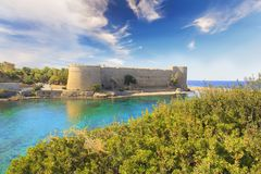Beautiful view of Kyrenia Castle in Kyrenia Girne, Northern Cyprus. On a sunny day Stock Photo