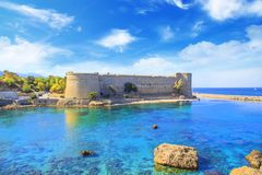 Beautiful view of Kyrenia Castle in Kyrenia Girne, Northern Cyprus Stock Photography