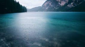 Beautiful view of Lago di Braies or Pragser wildsee, Italy. Stock Photo