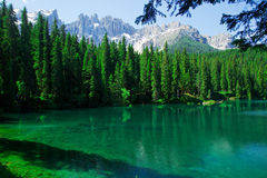 Beautiful view of a lake on alps in Italy Royalty Free Stock Images