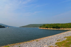 Beautiful view of lake dam Royalty Free Stock Images