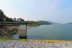 Beautiful view of lake dam Royalty Free Stock Photography