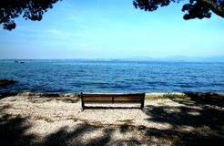 A beautiful view of the lake Garda Italy Stock Photos
