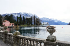 Beautiful view of Lake Garda with mountains in Riva de Garda town in the winter Royalty Free Stock Photo