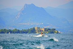 Beautiful scenic view of Garda Lake Italy royalty free stock image