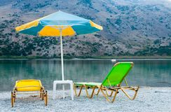 Beautiful view of the lake in Greece, Crete Royalty Free Stock Images