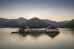 Beautiful view of lake (Khao wong resevoir). In evening Royalty Free Stock Image