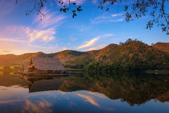 Beautiful view of lake (Khao wong resevoir) in morning. Beautiful view of lake (Khao wong resevoir) in morning, travel background in thailand Stock Images