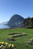 Beautiful view of lake Lugano Royalty Free Stock Photography