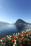 Beautiful view of lake Lugano Royalty Free Stock Photography