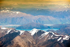 Beautiful view and landscape of lake and mountain in South Island, New Zealand Royalty Free Stock Photography