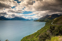 Beautiful view and landscape of lake in South Island, New Zealand Royalty Free Stock Image