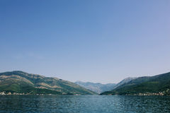 Beautiful view of landscape in Montenegro. Kotor Bay Royalty Free Stock Photography