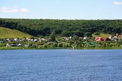 Beautiful view on Lbishche village in Samara region Royalty Free Stock Photo