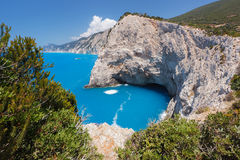 Porto Katsiki beach, west coast of Lefkada, Ionian Islands, Greece Stock Image