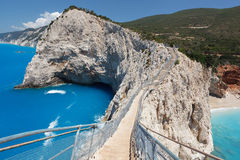 Beautiful view of Lefkada's island. Porto Katsiki beach Stock Photo