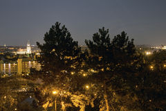 Beautiful view from Letna park at the Prague cityscape at night Stock Image