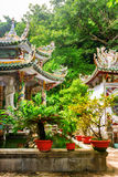 Beautiful view of the Linh Ung Pagoda in the Marble Mountains Royalty Free Stock Images