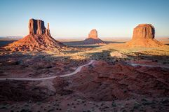 Monument Valley Outlook in Arizona royalty free stock photo