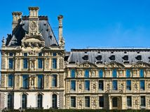 Beautiful view of Louvre palace in Paris Royalty Free Stock Image