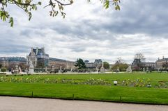 The beautiful view of the Luxembourg Gardens in Paris. France Stock Image