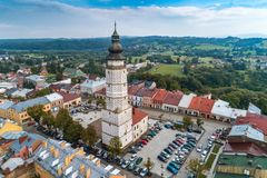 Biecz main square aerial view royalty free stock photos