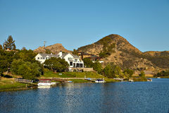Beautiful view of Malibu lake Stock Photo