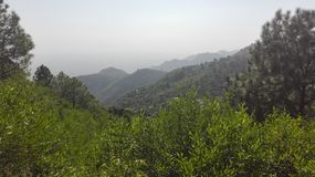 Beautiful View of Margala Hills, Pakistan with amazing landsacpe. This Image is shoot from margala hills near to Islamabad Stock Photos