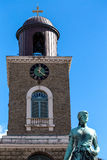 Beautiful view of Marienkirche in the old town of Husum Royalty Free Stock Photos