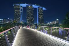 Beautiful view of Marina Bay Sands Hotel Stock Image