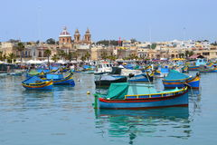 Beautiful view of Marsaxlokk South of Malta Royalty Free Stock Images