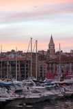 Beautiful view of Marseille in the night Royalty Free Stock Photos