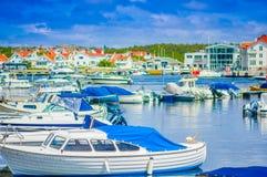 Beautiful view of Marstrand, popular sailing stock images