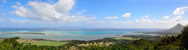 Beautiful view on Mauritius island. Royalty Free Stock Image